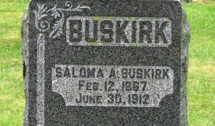 BUSKIRK, SALOMA A. - Marion County, Ohio | SALOMA A. BUSKIRK - Ohio Gravestone Photos