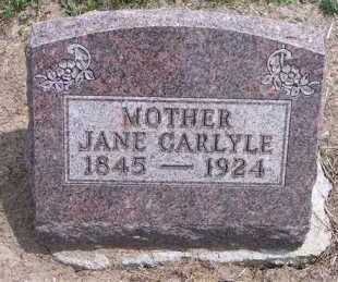 CARLYLE, JANE - Marion County, Ohio   JANE CARLYLE - Ohio Gravestone Photos