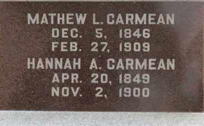 CARMEAN, HANNAH A. - Marion County, Ohio   HANNAH A. CARMEAN - Ohio Gravestone Photos