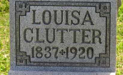 CLUTTER, LOUISA - Marion County, Ohio | LOUISA CLUTTER - Ohio Gravestone Photos