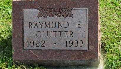 CLUTTER, RAYMOND E. - Marion County, Ohio   RAYMOND E. CLUTTER - Ohio Gravestone Photos