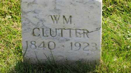 CLUTTER, WM. - Marion County, Ohio | WM. CLUTTER - Ohio Gravestone Photos