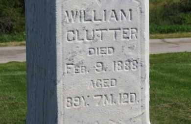 CLUTTER, WILLIAM - Marion County, Ohio | WILLIAM CLUTTER - Ohio Gravestone Photos