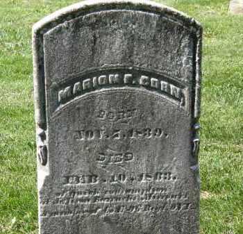 CORN, MARION F. - Marion County, Ohio | MARION F. CORN - Ohio Gravestone Photos