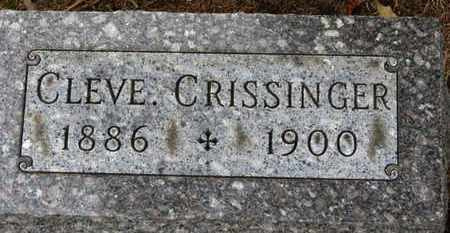 CRISSINGER, CLEVE. - Marion County, Ohio | CLEVE. CRISSINGER - Ohio Gravestone Photos