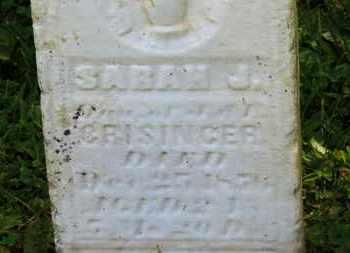 CRISSINGER, SARAH J. - Marion County, Ohio | SARAH J. CRISSINGER - Ohio Gravestone Photos