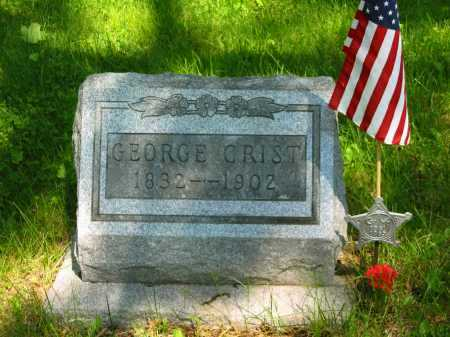 CRIST, GEORGE - Marion County, Ohio | GEORGE CRIST - Ohio Gravestone Photos