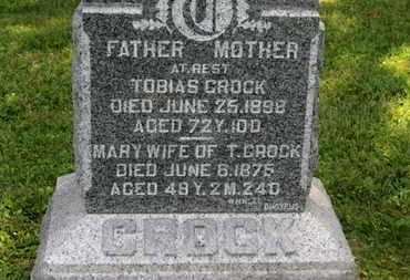 CROCK, MARY - Marion County, Ohio | MARY CROCK - Ohio Gravestone Photos