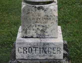 CROTINGER, H. - Marion County, Ohio   H. CROTINGER - Ohio Gravestone Photos