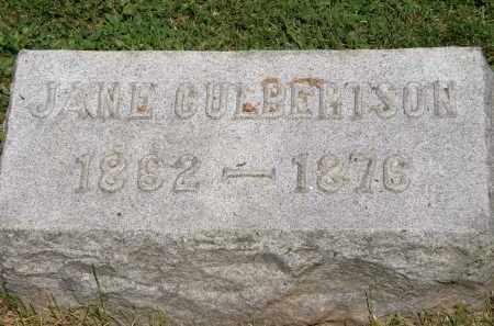 CULBERTSON, JANE - Marion County, Ohio | JANE CULBERTSON - Ohio Gravestone Photos