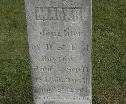 DAYTON, E. - Marion County, Ohio   E. DAYTON - Ohio Gravestone Photos