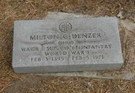 DENZER, MILTON C. - Marion County, Ohio | MILTON C. DENZER - Ohio Gravestone Photos