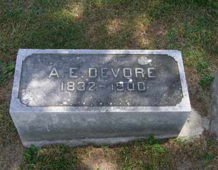 DEVORE, A. E. - Marion County, Ohio | A. E. DEVORE - Ohio Gravestone Photos