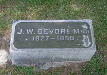 DEVORE, J. W. - Marion County, Ohio | J. W. DEVORE - Ohio Gravestone Photos