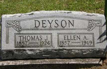 DEYSON, ELLEN A. - Marion County, Ohio   ELLEN A. DEYSON - Ohio Gravestone Photos