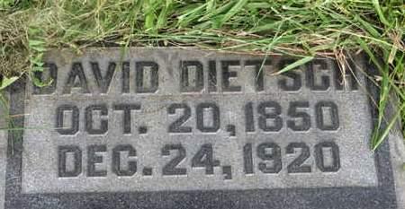 DIETSCH, DAVID - Marion County, Ohio | DAVID DIETSCH - Ohio Gravestone Photos