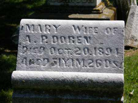 DOREN, MARY - Marion County, Ohio | MARY DOREN - Ohio Gravestone Photos