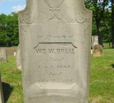 DRAKE, WILLIAM W. - Marion County, Ohio   WILLIAM W. DRAKE - Ohio Gravestone Photos