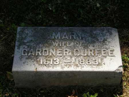 DURFEE, MARY - Marion County, Ohio | MARY DURFEE - Ohio Gravestone Photos