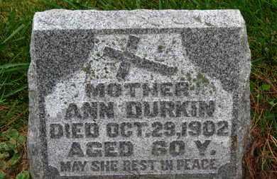 DURKIN, ANN - Marion County, Ohio | ANN DURKIN - Ohio Gravestone Photos