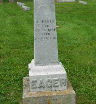 EAGER, J. - Marion County, Ohio | J. EAGER - Ohio Gravestone Photos