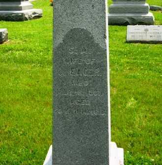 EAGER, S. A. - Marion County, Ohio | S. A. EAGER - Ohio Gravestone Photos
