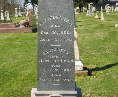 EDELMAN, S. E. - Marion County, Ohio | S. E. EDELMAN - Ohio Gravestone Photos