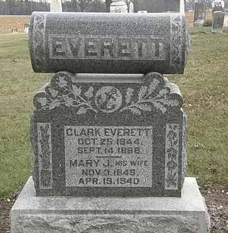 EVERETT, MARY J. - Marion County, Ohio | MARY J. EVERETT - Ohio Gravestone Photos
