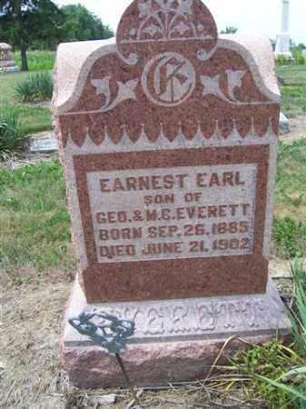 EVERETT, EARNEST EARL - Marion County, Ohio   EARNEST EARL EVERETT - Ohio Gravestone Photos