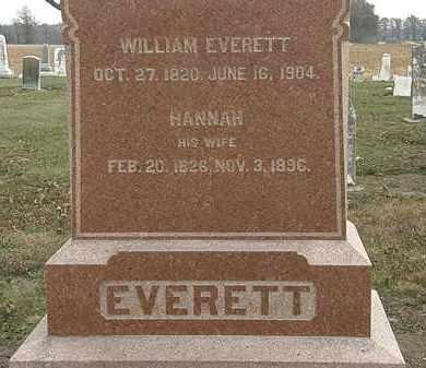 EVERETT, HANNAH - Marion County, Ohio   HANNAH EVERETT - Ohio Gravestone Photos