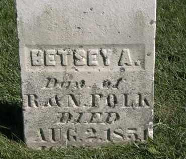 FOLK, BETSEY A. - Marion County, Ohio | BETSEY A. FOLK - Ohio Gravestone Photos
