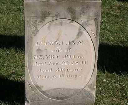 FOLK, LUCENA ANN - Marion County, Ohio   LUCENA ANN FOLK - Ohio Gravestone Photos