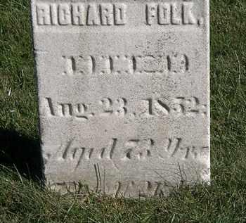 FOLK, RICHARD - Marion County, Ohio   RICHARD FOLK - Ohio Gravestone Photos
