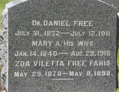 FREE FARIS, ZOA VILETTA - Marion County, Ohio | ZOA VILETTA FREE FARIS - Ohio Gravestone Photos