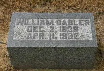 GABLER, WILLIAM - Marion County, Ohio | WILLIAM GABLER - Ohio Gravestone Photos