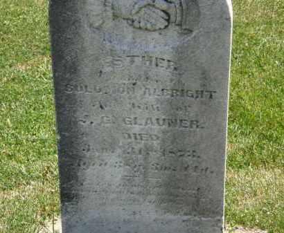 ALBRIGHT GLAUNER, ESTHER - Marion County, Ohio | ESTHER ALBRIGHT GLAUNER - Ohio Gravestone Photos
