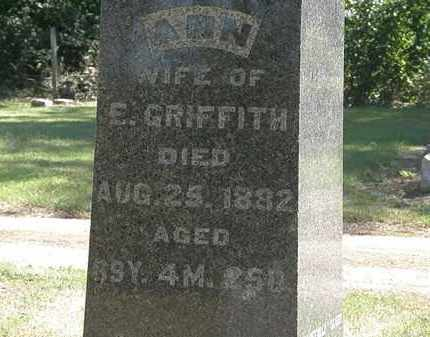 GRIFFITH, E. - Marion County, Ohio   E. GRIFFITH - Ohio Gravestone Photos