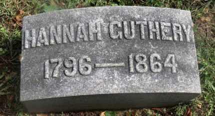 GUTHERY, HANNAH - Marion County, Ohio | HANNAH GUTHERY - Ohio Gravestone Photos