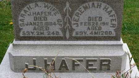 HAFER, JEREMIAH - Marion County, Ohio | JEREMIAH HAFER - Ohio Gravestone Photos