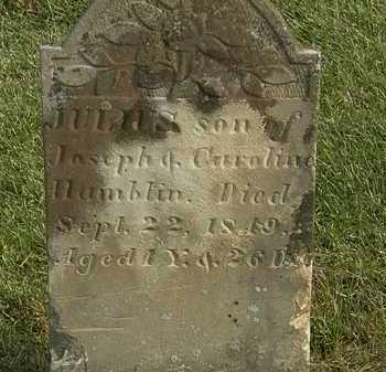 HAMBLIN, JULIUS - Marion County, Ohio | JULIUS HAMBLIN - Ohio Gravestone Photos