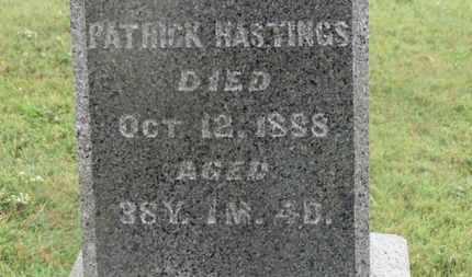 HASTINGS, PATRICK - Marion County, Ohio | PATRICK HASTINGS - Ohio Gravestone Photos