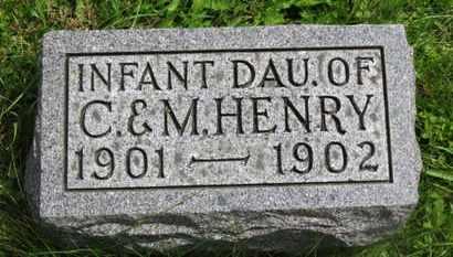 HENRY, INFANT DAU. - Marion County, Ohio | INFANT DAU. HENRY - Ohio Gravestone Photos