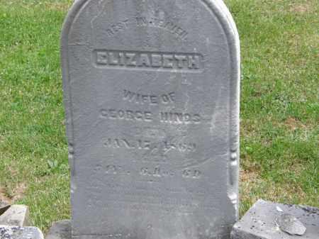 HINDS, ELIZABETH - Marion County, Ohio | ELIZABETH HINDS - Ohio Gravestone Photos