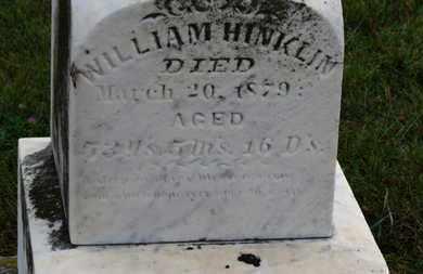 HINKLIN, WILLIAM - Marion County, Ohio   WILLIAM HINKLIN - Ohio Gravestone Photos