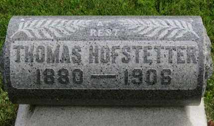HOFSTETTER, THOMAS - Marion County, Ohio | THOMAS HOFSTETTER - Ohio Gravestone Photos