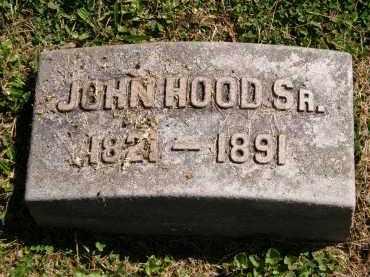 HOOD, JOHN SR. - Marion County, Ohio | JOHN SR. HOOD - Ohio Gravestone Photos