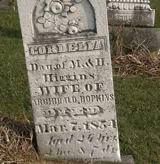 HIGGINS HOPKINS, CORDELIA - Marion County, Ohio | CORDELIA HIGGINS HOPKINS - Ohio Gravestone Photos