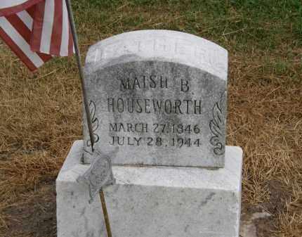 HOUSEWORTH, MAISH B. - Marion County, Ohio | MAISH B. HOUSEWORTH - Ohio Gravestone Photos
