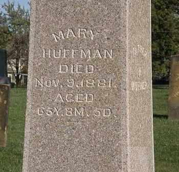 HUFFMAN, MARY - Marion County, Ohio | MARY HUFFMAN - Ohio Gravestone Photos