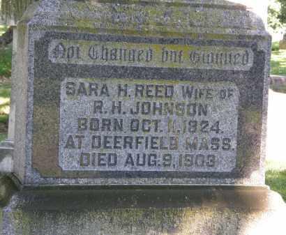 JOHNSON, SARA H. - Marion County, Ohio | SARA H. JOHNSON - Ohio Gravestone Photos